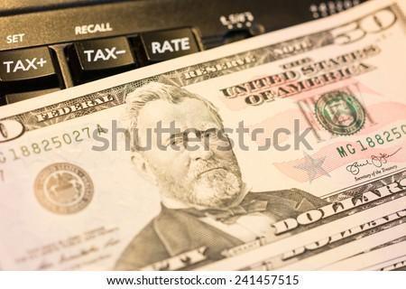 Fifty Dollar Bill.  - stock photo