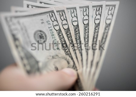 Fifty dollars - stock photo