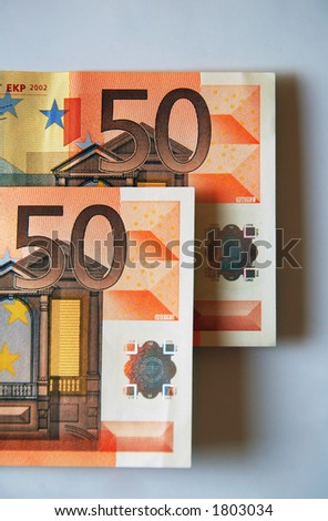 fifty-fifty chance in... cash - stock photo