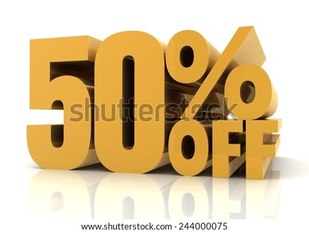 fifty percent off sale