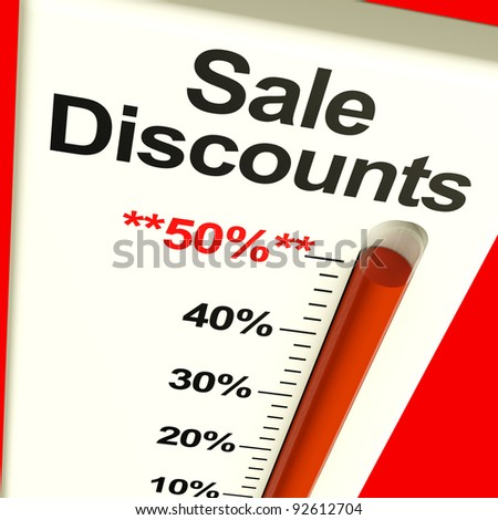 Fifty Percent Sale Discounts Showing Bargain Closeout And Selloff