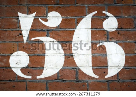 Fifty Six - stock photo