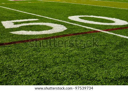 Fifty Yard Line - stock photo