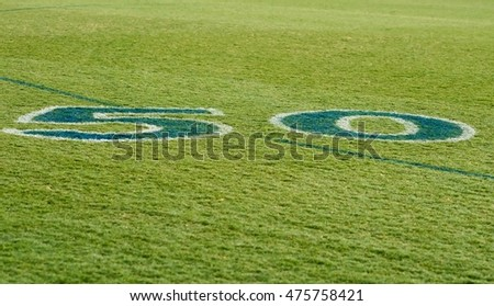 Fifty Yard Line Australian AFL Football