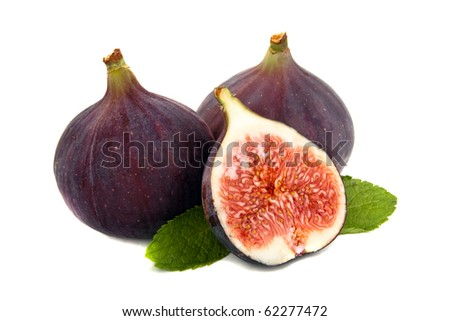 Fig and mint - stock photo