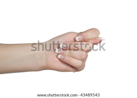 Fig gesture - stock photo