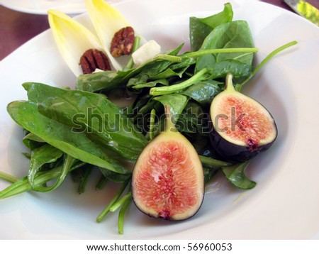 Fig salad - stock photo