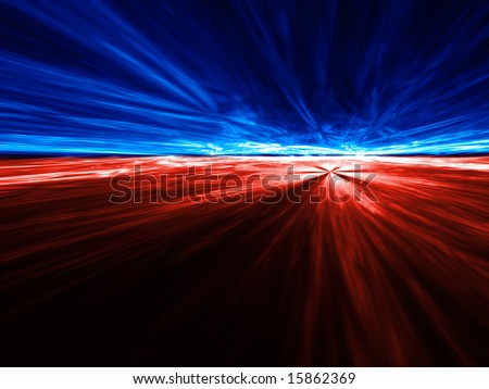 Fight for the Future - 3D fractal Illustration - stock photo