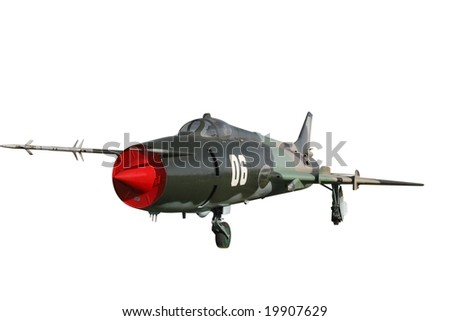 Fighter bomber Su-17 isolated