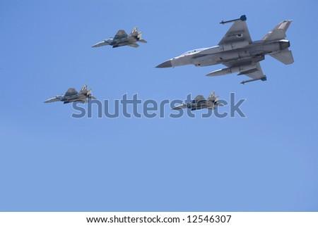 Fighter jet. - stock photo