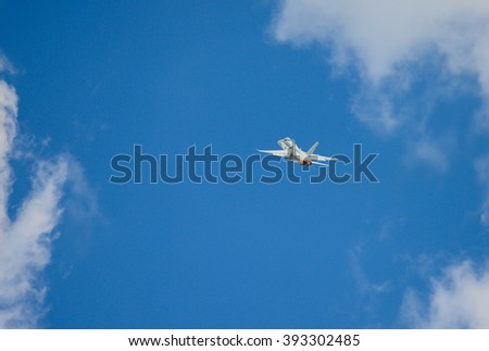 Fighter jet in action - stock photo