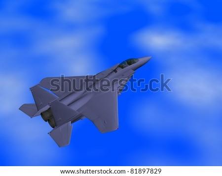 fighter plane - stock photo