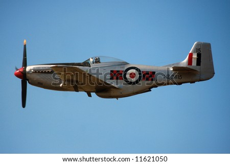 Fighter Plane at Warbirds Over Wanaka 2008, New Zealand - stock photo