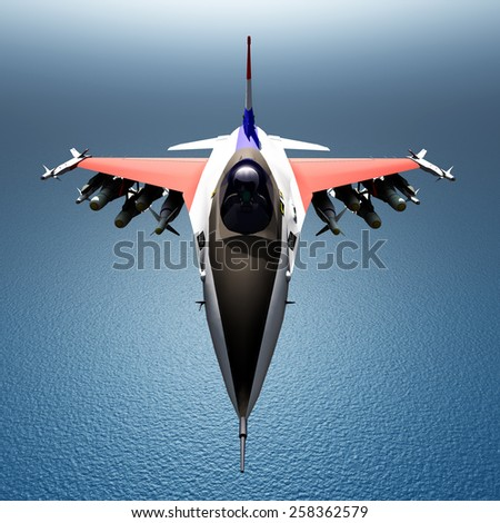 Fighter Plane Computer generated 3D illustration - stock photo