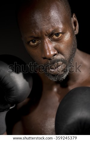 Fighting Fit Boxer - stock photo