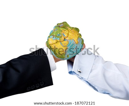 Fighting hands - stock photo