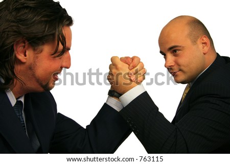 Fighting it out III - stock photo