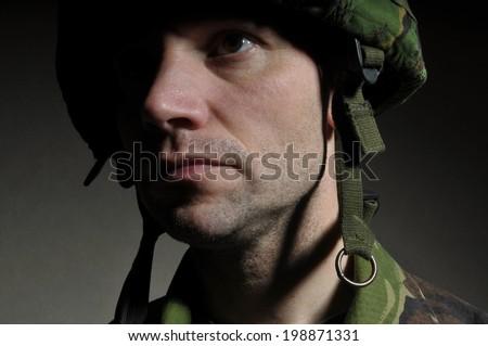 Fighting P.T.S.D. / Combat Stress - stock photo