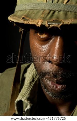 Fighting PTSD - stock photo