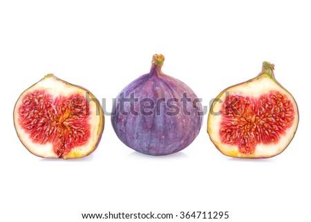 figs fruit straight line - stock photo