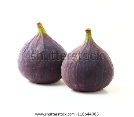 Figs on a white background - stock photo