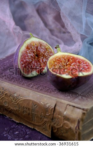Figs on old book