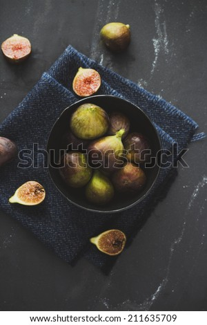 Figs on the table - stock photo