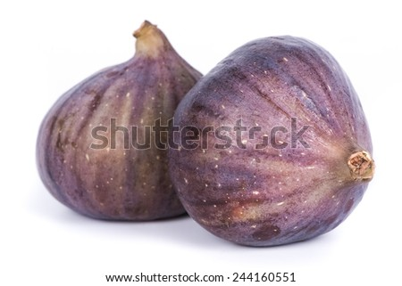figs on white - stock photo