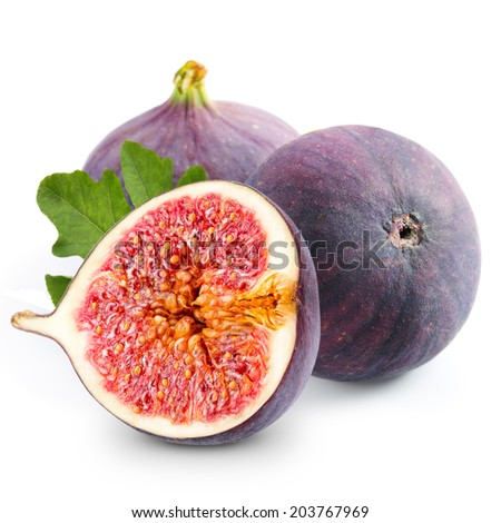 Figs on white background  - stock photo