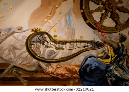 FIGUERAS - JULY 26: Details from Dali's Museum, opened on September 28, 1974 and housing the largest collection of works by Salvador Dali on July 26, 2011 in Figueras, Catalunya, Spain - stock photo