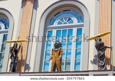FIGUERES, SPAIN - JULY 26: The Dali Theatre and Museum  on July 26, 2014 in Figueres, Catalunia, Spain. The museum displays the largest and most diverse collection of works by Salvador Dali.