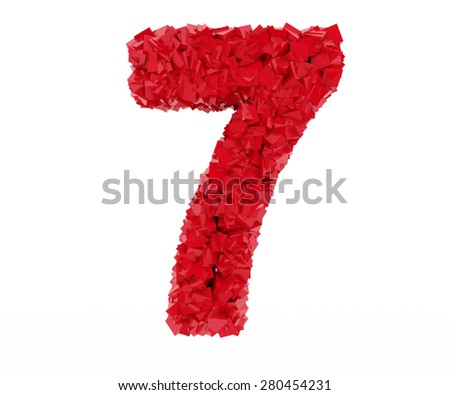 figure 7 consisting of cubes - stock photo