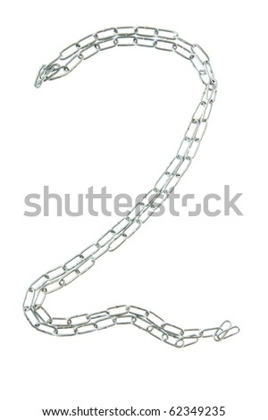 Figure 2 from a metal chain isolated on the white