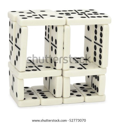 Figure from dominoes isolated on a white background