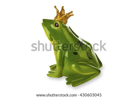 Figure from frog prince isolated on white background - stock photo