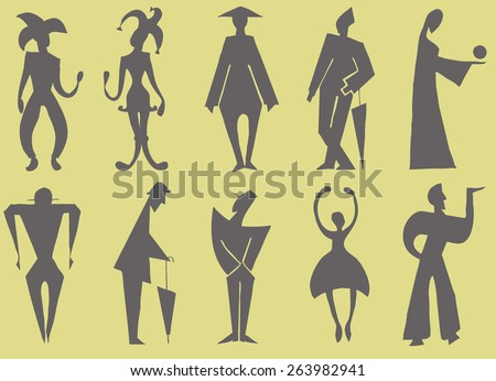 Figure of a man, graphic  - stock photo