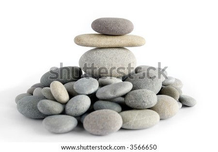 Figure of the person from a sea pebble - stock photo