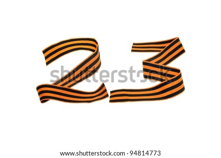 Figure 23 of the st george ribbons - stock photo