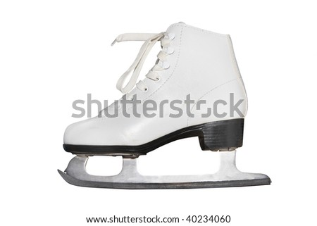 figure skate under the white background