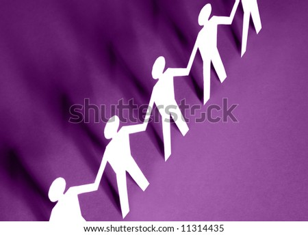 figures of man in paper - stock photo