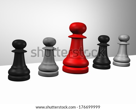 Figures of the famous game chess