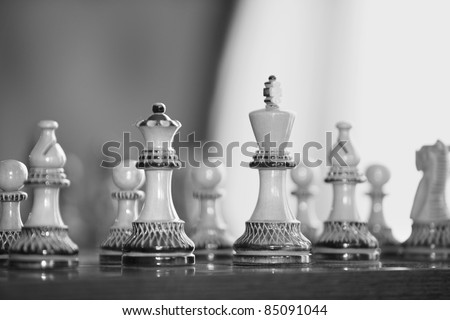Figures on a Chess Board as a Close-Up