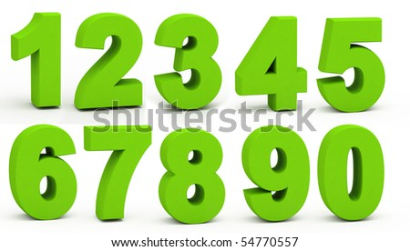 Figures on a white background. - stock photo