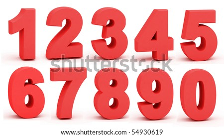 Figures on a white background - stock photo