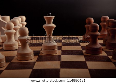 figures placed on the board - stock photo