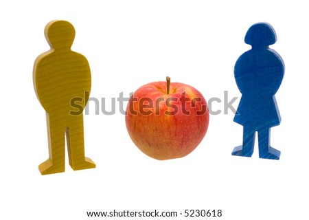 figures with apple