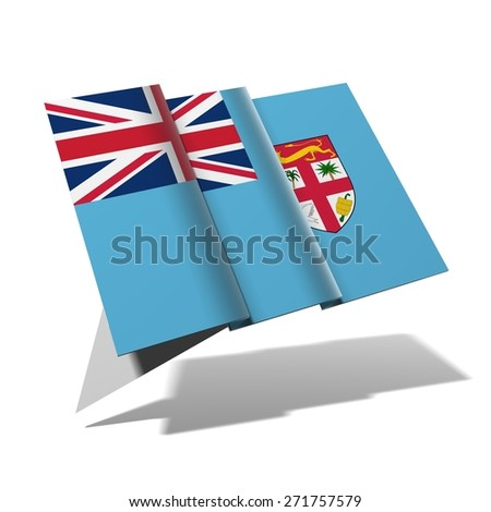 Fiji flag 3D banner - stock photo