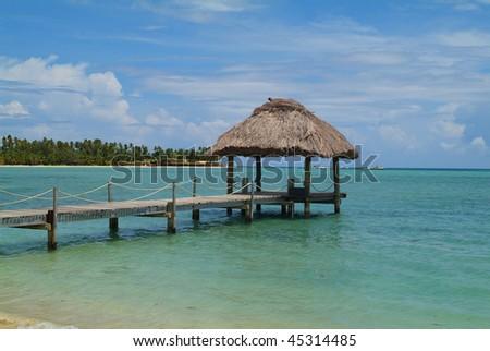 Fiji, Plantation Island Resort - stock photo
