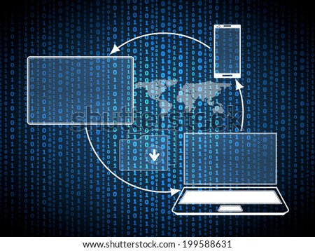 File and network communications  digital concept - stock photo