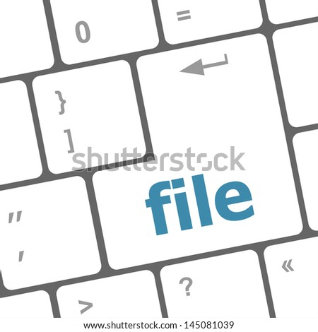 file button on computer pc keyboard key, raster